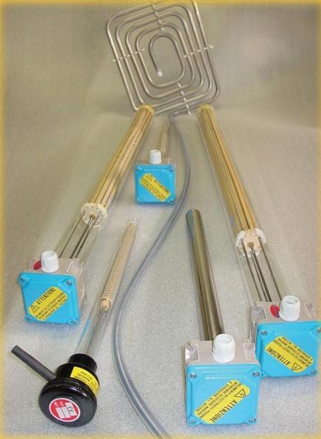 Calentadores para lìquidos corrosivos / Calentadores galvanicos